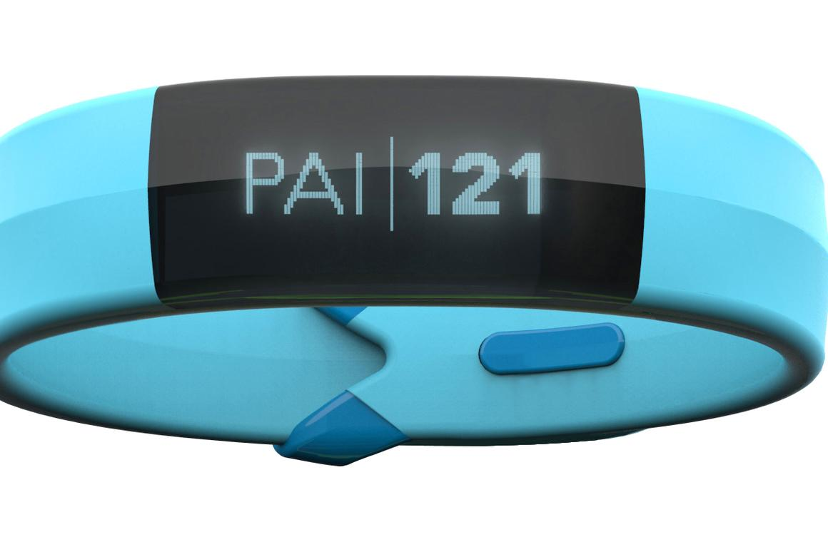 The Mio Slice activity tracker is able to display your Personal Activity Intelligence on your wrist