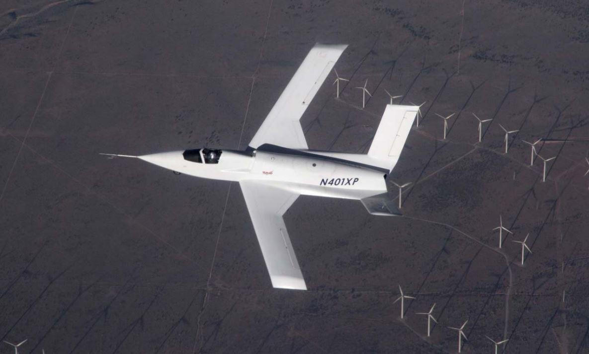 The Model 401 on its maiden flight