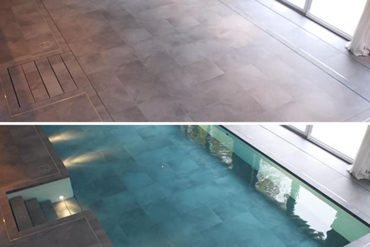 Now you see it, now you don't - the Hydrofloor movable pool floor