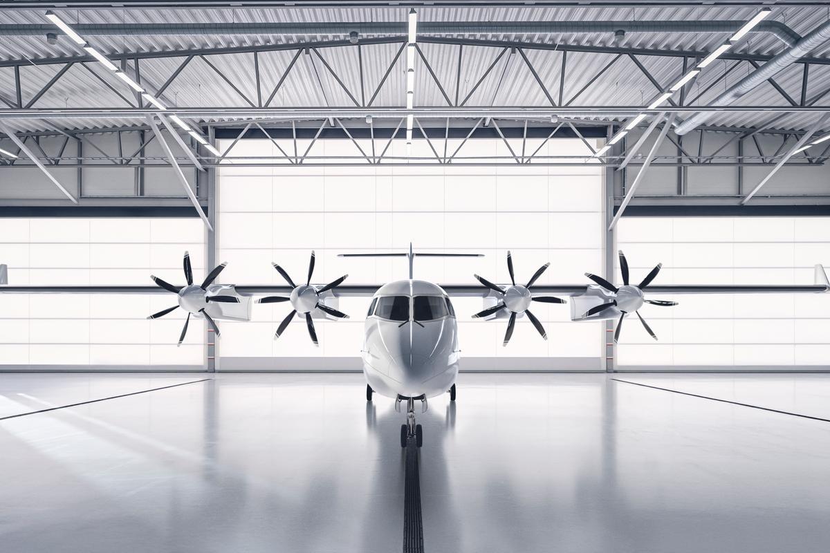A render of the ES-19 in the hangar