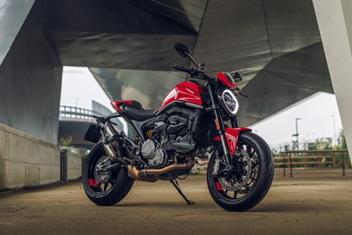 Ducati has transformed the 2021 Monster by giving it an aluminum frame