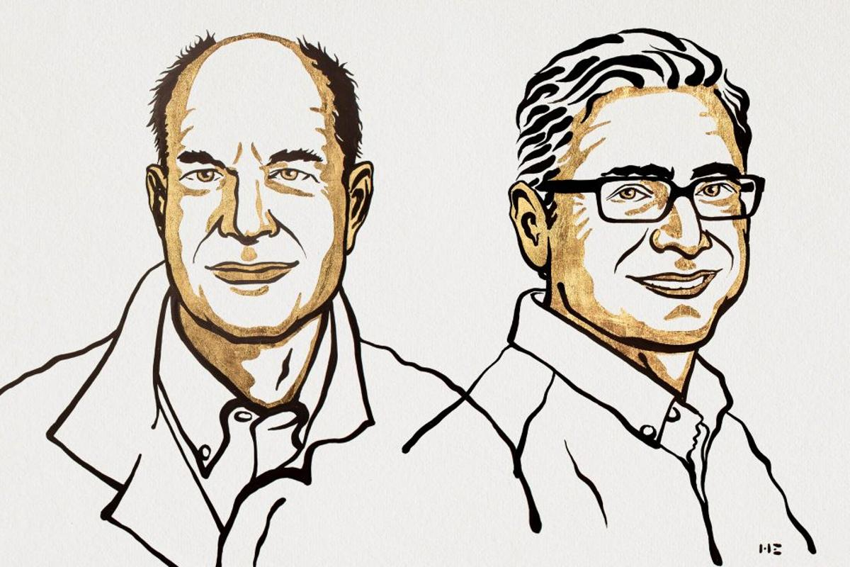 The official portraits of the 2021 Nobel Prize in Physiology or Medicine winners, David Julius and Ardem Patapoutian