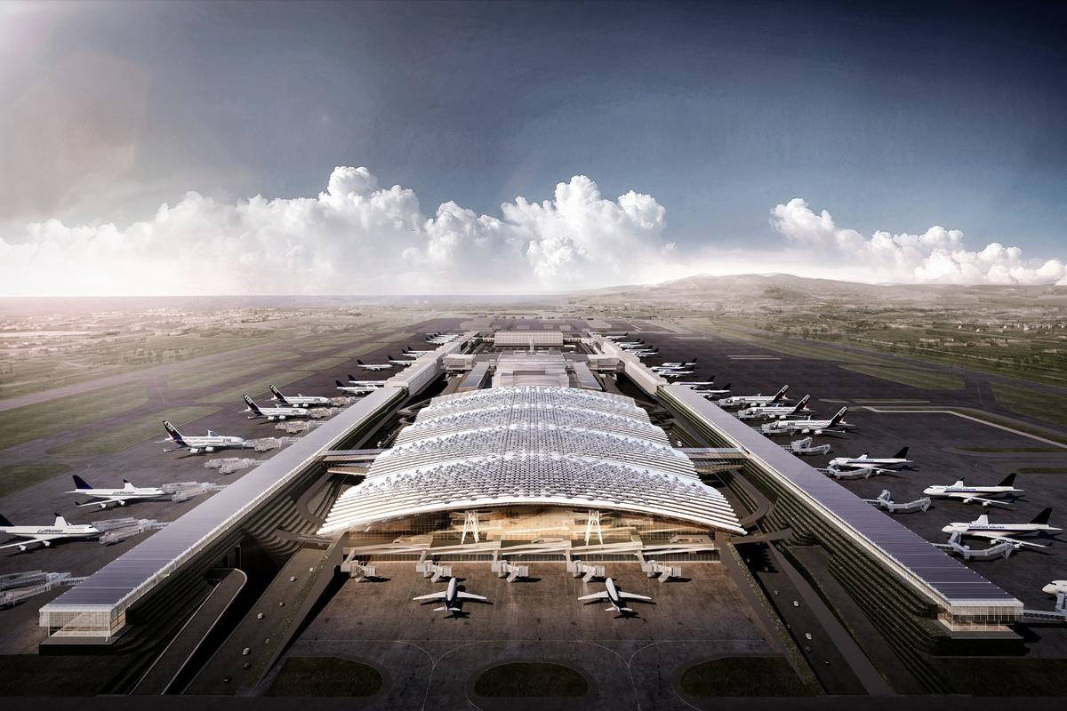 RSHP has combined aspects of its Heathrow Terminal 5 design and that of the Barajas Terminal 4