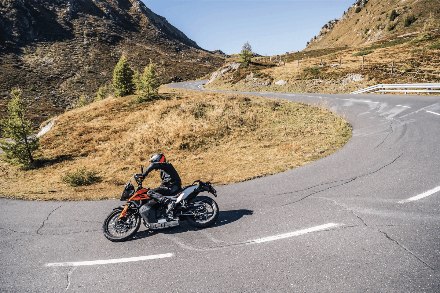KTM 790 Adventure: the more road focused of the two