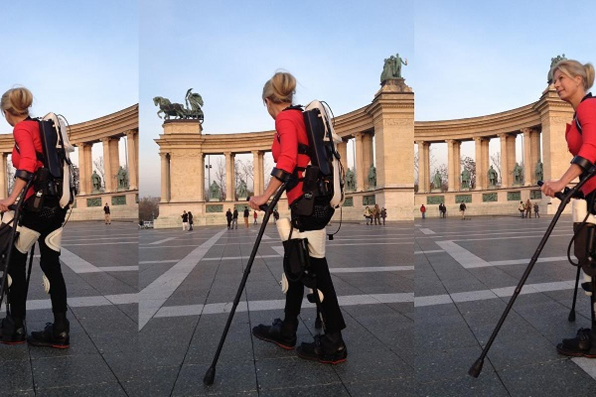 A 3D printed robotic exoskeleton has enabled a woman paralyzed from the waist down to walk again