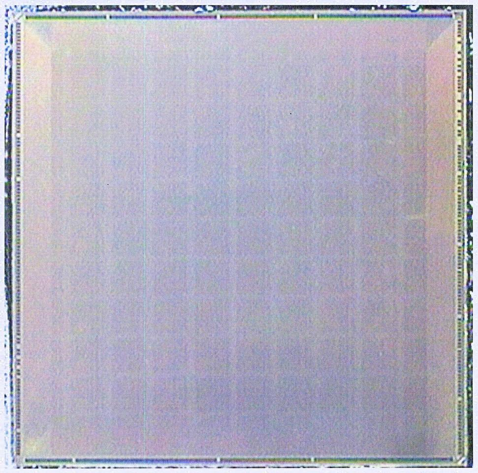 Microphotograph of the 110-core MIT Execution Migration Machine chip (Photo: MIT)