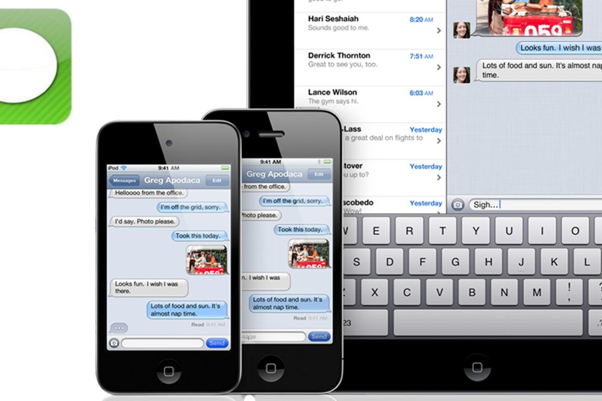 iMessage makes it easy and cheap to send text messages between iOS 5 devices