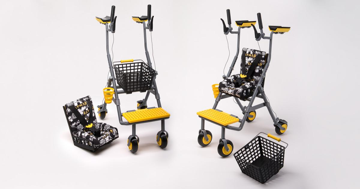 Walker mobility aid gets multifunctional redesign