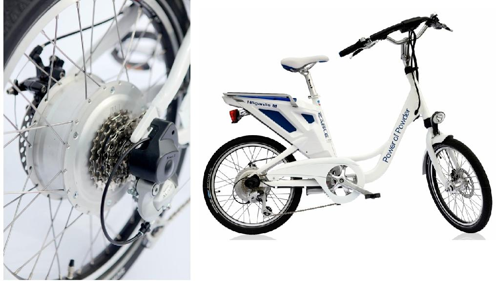 The new lightweight environmentally-friendlier electric motor from Hoganas, suited to bikes and other small vehicles