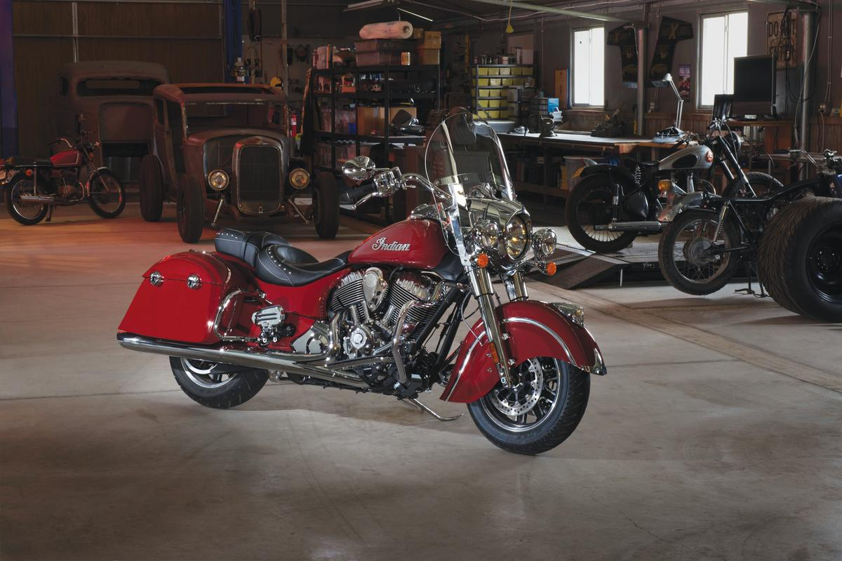 The Indian Springfield mixes classic styling with modern technology