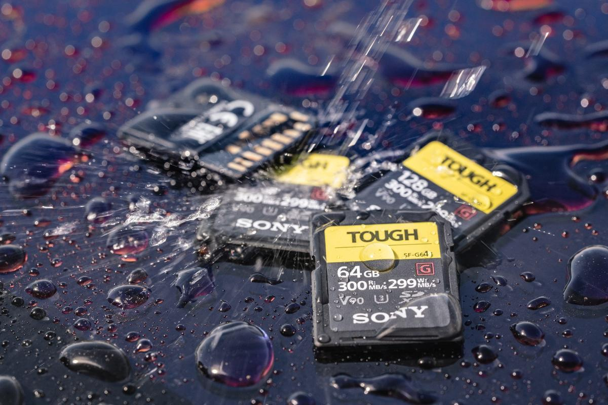 Sony's SF-G TOUGH series can be submerged in over 1 m (3 ft) of water