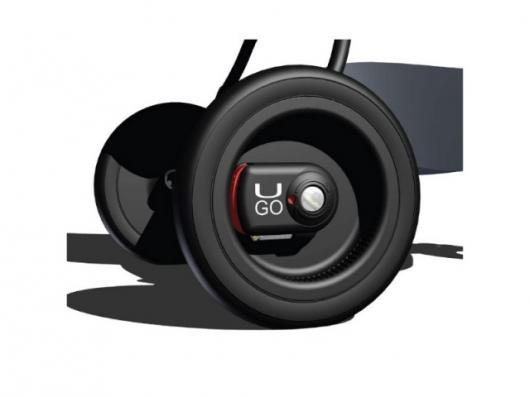 Hub-mounted UGO safety brakes for strollers