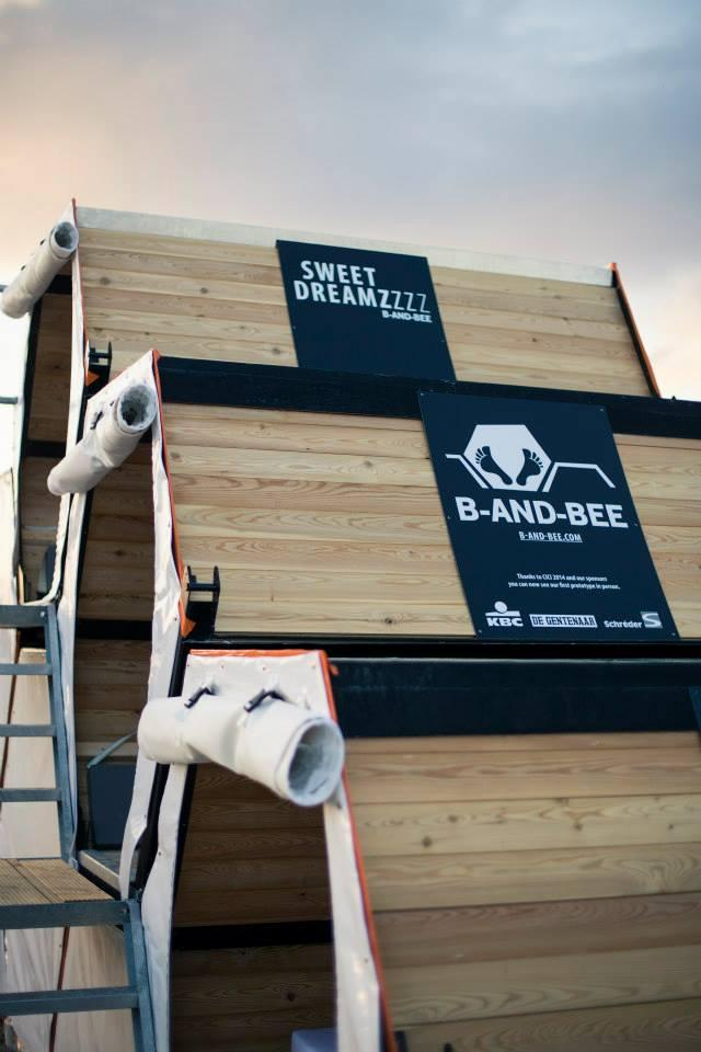 The modular shelter could bring festival goers a little extra comfort compared to a tent (Photo: B-And-Bee)