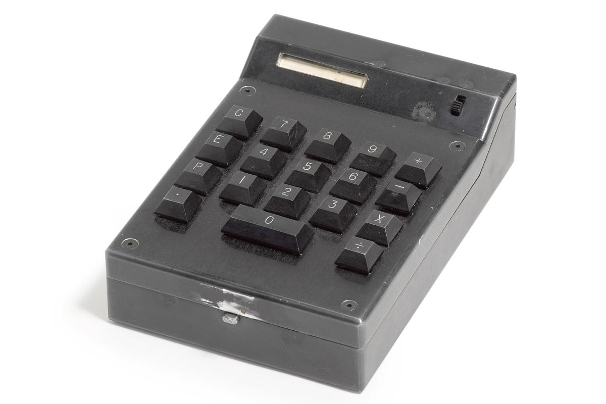 "The handheld calculator was an unqualified success of ""killer app"" magnitude. Canon bought the rights and launched its Pocketronic calculator on 14 April, 1971. The 4-function calculator weighed 2.5 pounds (1.13 kg) and initially cost $250. Within months, the price was reduced to $150 and the sales continued to grow as manufacturing costs and prices came down. More than five million pocket calculators were sold in the United States in 1972."