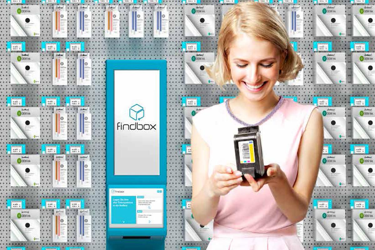 The findbox system helps shoppers find the item they want by scanning an example or package