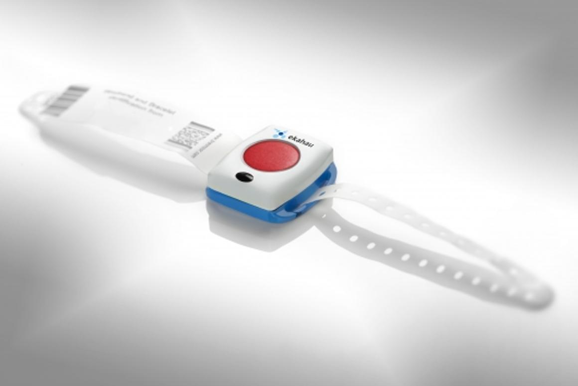 "The T301W wrist tag from Ekahau offers simple two-way communication as well as an ""unprecedented degree of location accuracy"""
