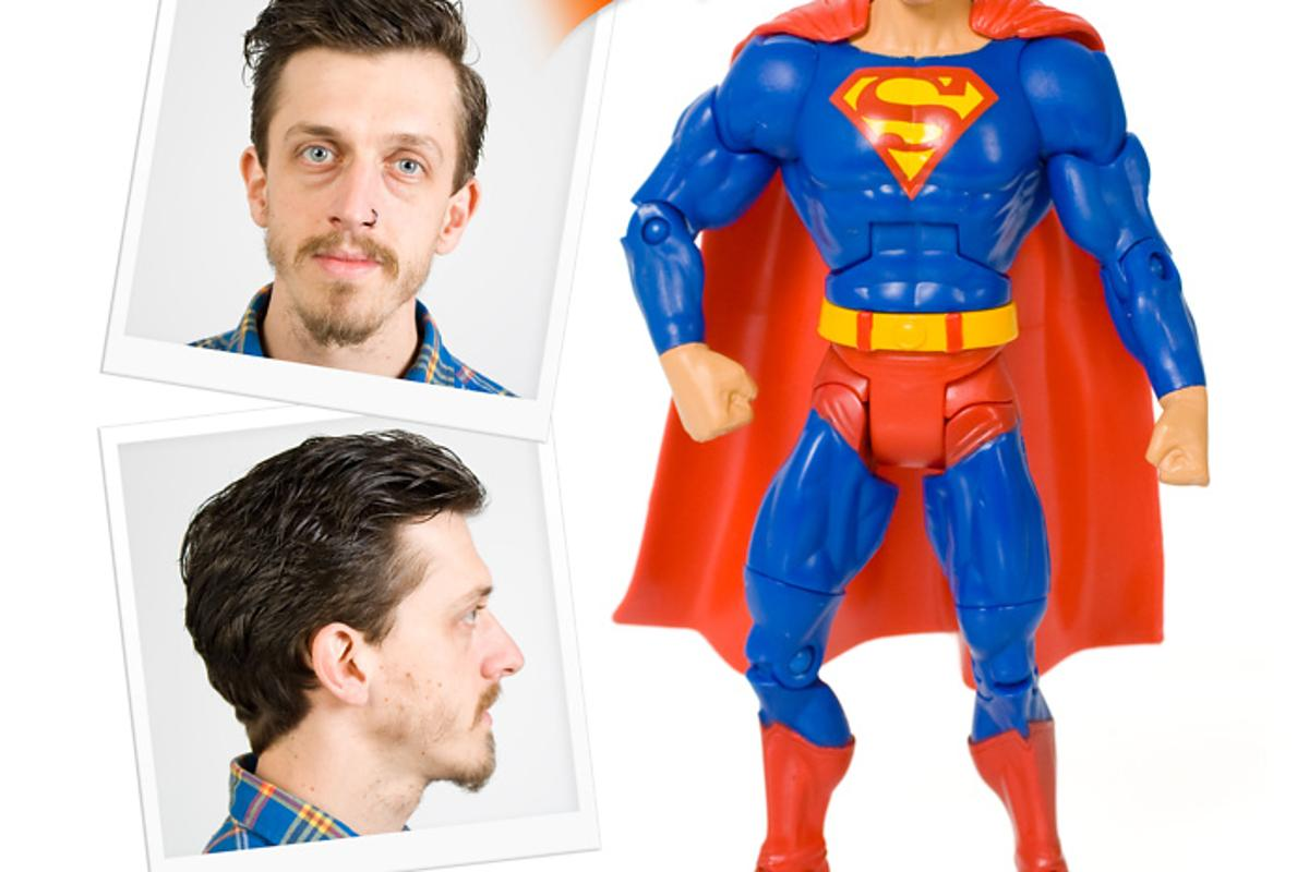 For about $127, UK novelty company Firebox will create a 3D-printed model of your head, which you can stick on a supplied superhero action figure