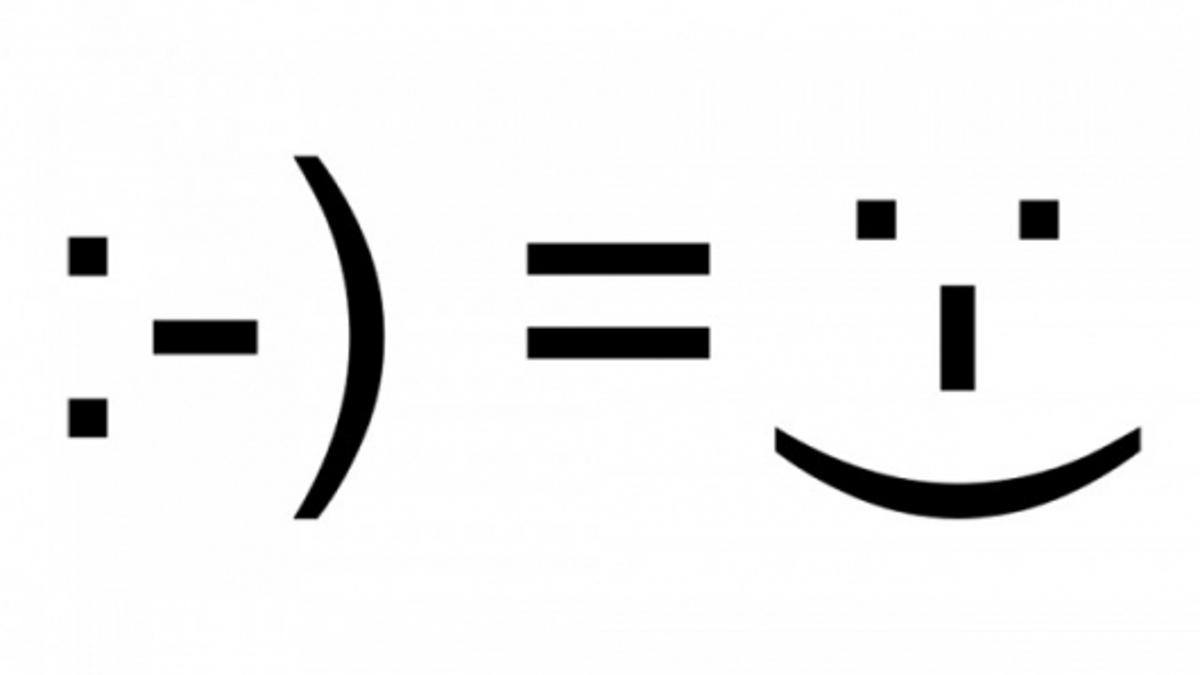 The emoticon isn't the only way to gauge happiness online
