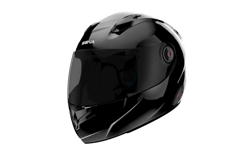 The Sena Intelligent Noise-Cancelling helmet in black
