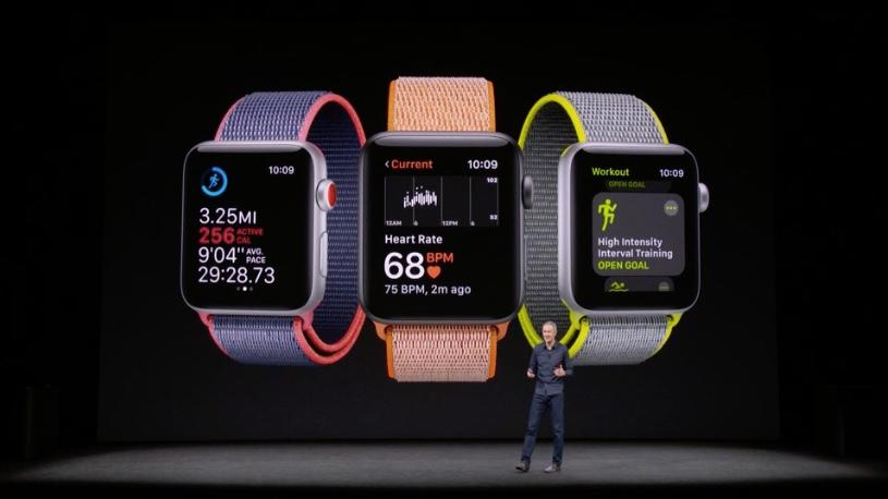 Apple COOJeff Williams introduces the Apple Watch Series 3 in the Steve Jobs Theater
