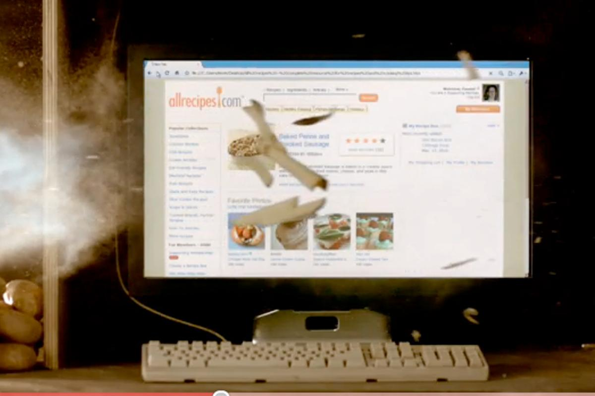 Google Chrome browser is faster than... a potato gun