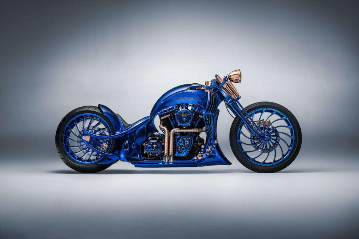 Bucherer's Harley-Davidson Blue Editionproudly takes the crown as the world's most expensive motorcycle