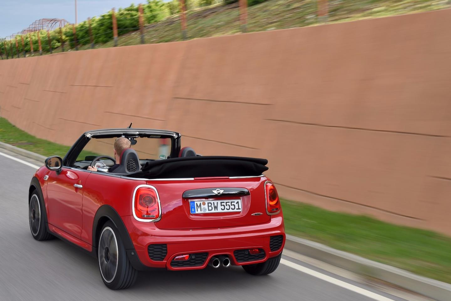 The JCW Convertible will hit 100 km/h in 6.6 seconds