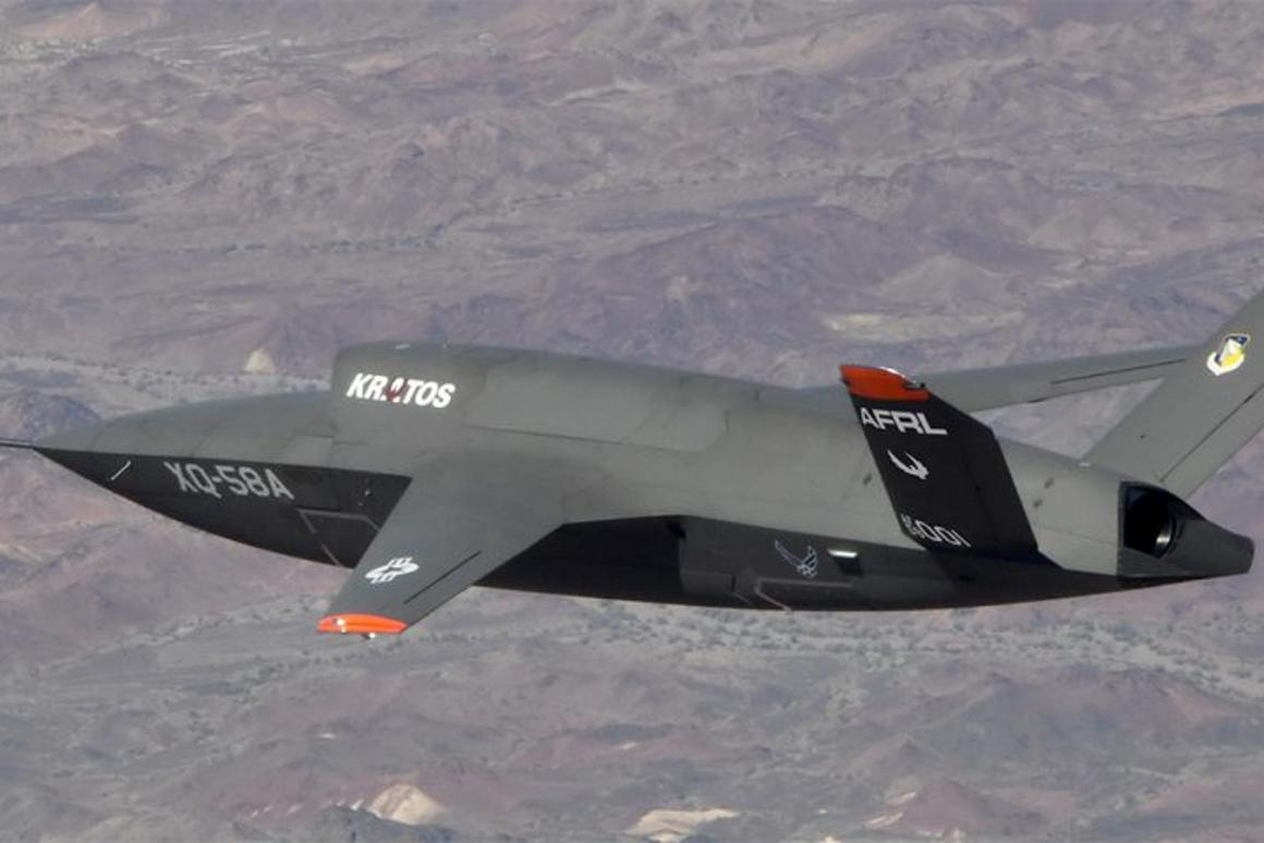 The XQ-5A Valkyrie on a 2019 test flight