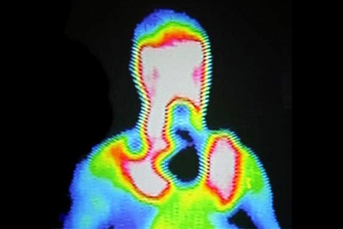The heat from the human body could be harvested to run low power electronic devices