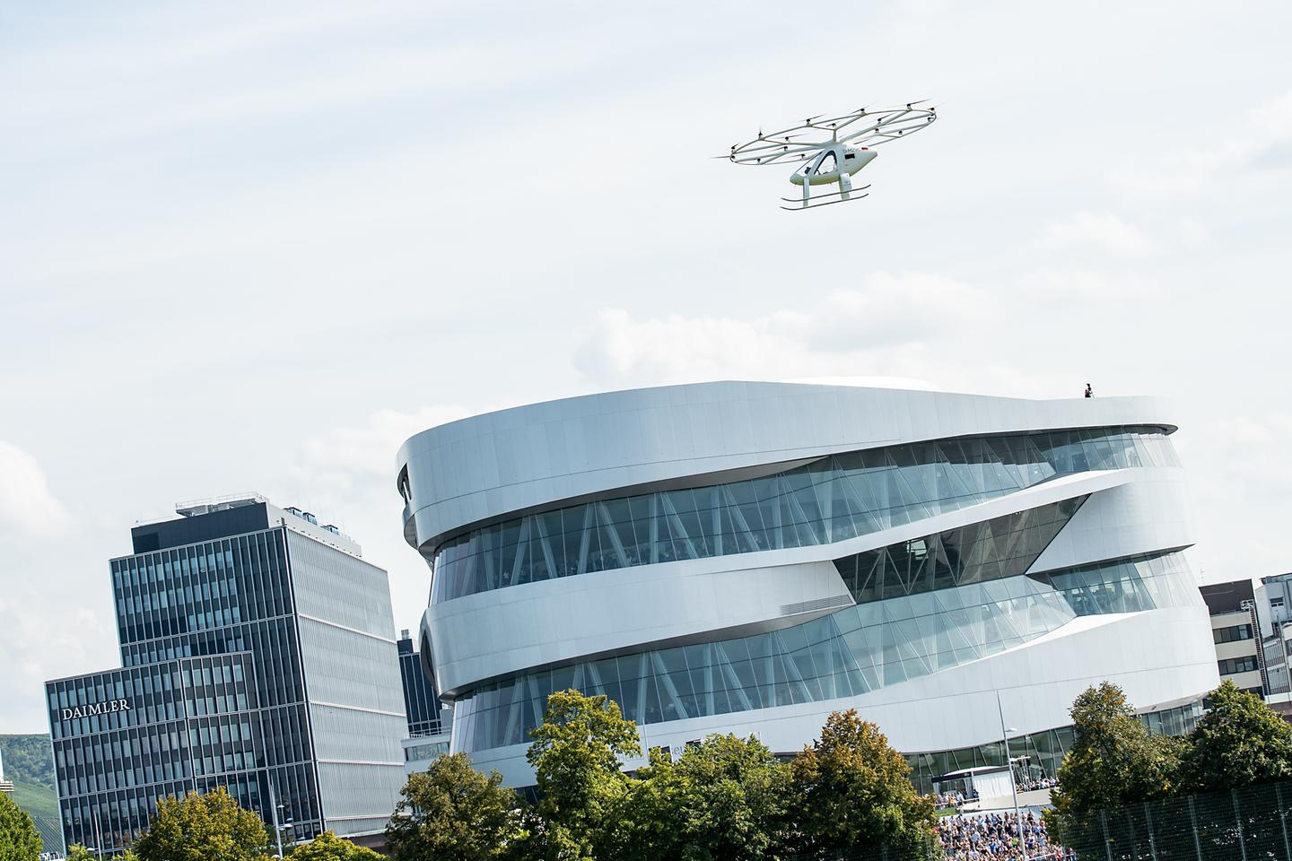 This latest outing for the Volocopter was a part of a two-day event called Vision Smart City