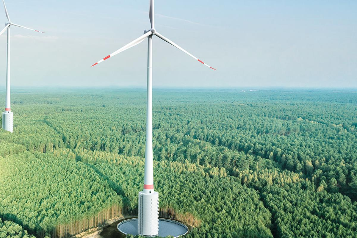 The Gaildorf giant is over 800 ft tall from ground to blade tip