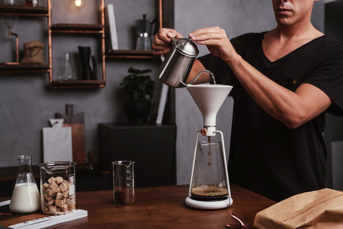 Goat Story's Gina is a smart coffee brewing instrument, which combines three different brewing methods in one appliance
