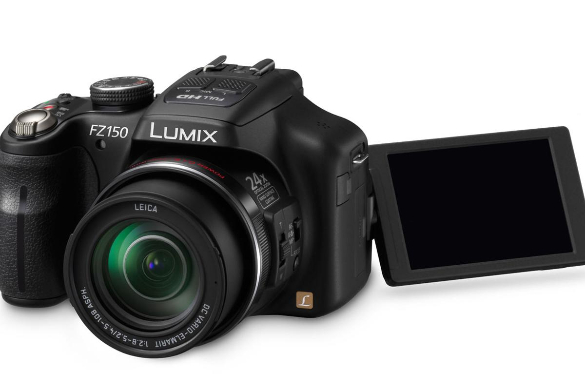 The LUMIX DMC-FZ150 from Panasonic boasts a 24 x optical zoom
