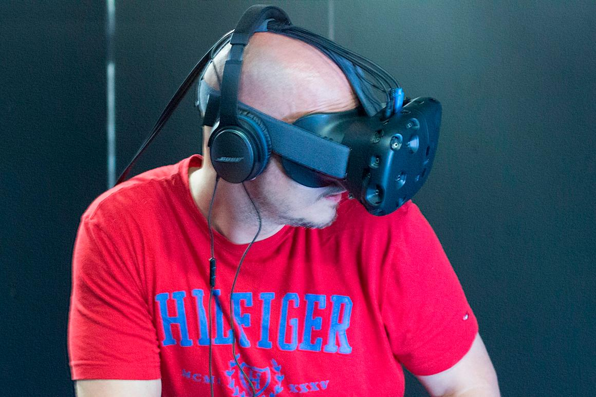 The HTC Vive's free-roaming element puts your entire body into virtual reality