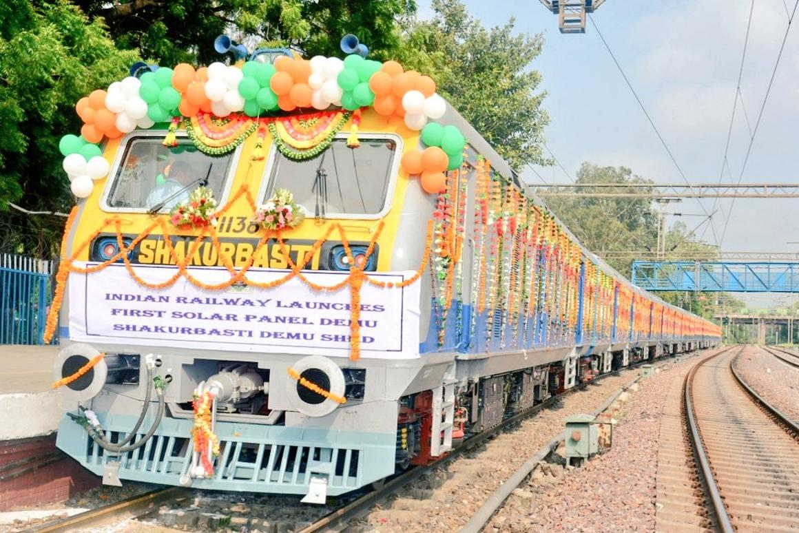 Adding solar panels to a six coach DEMU train could save Indian Railways around 21,000 liters of diesel per year