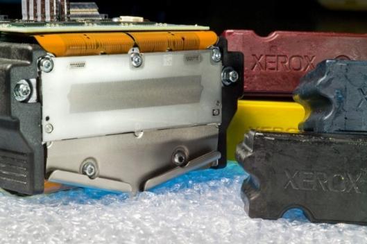 The print head of the Xerox ColorQube 9200 Series