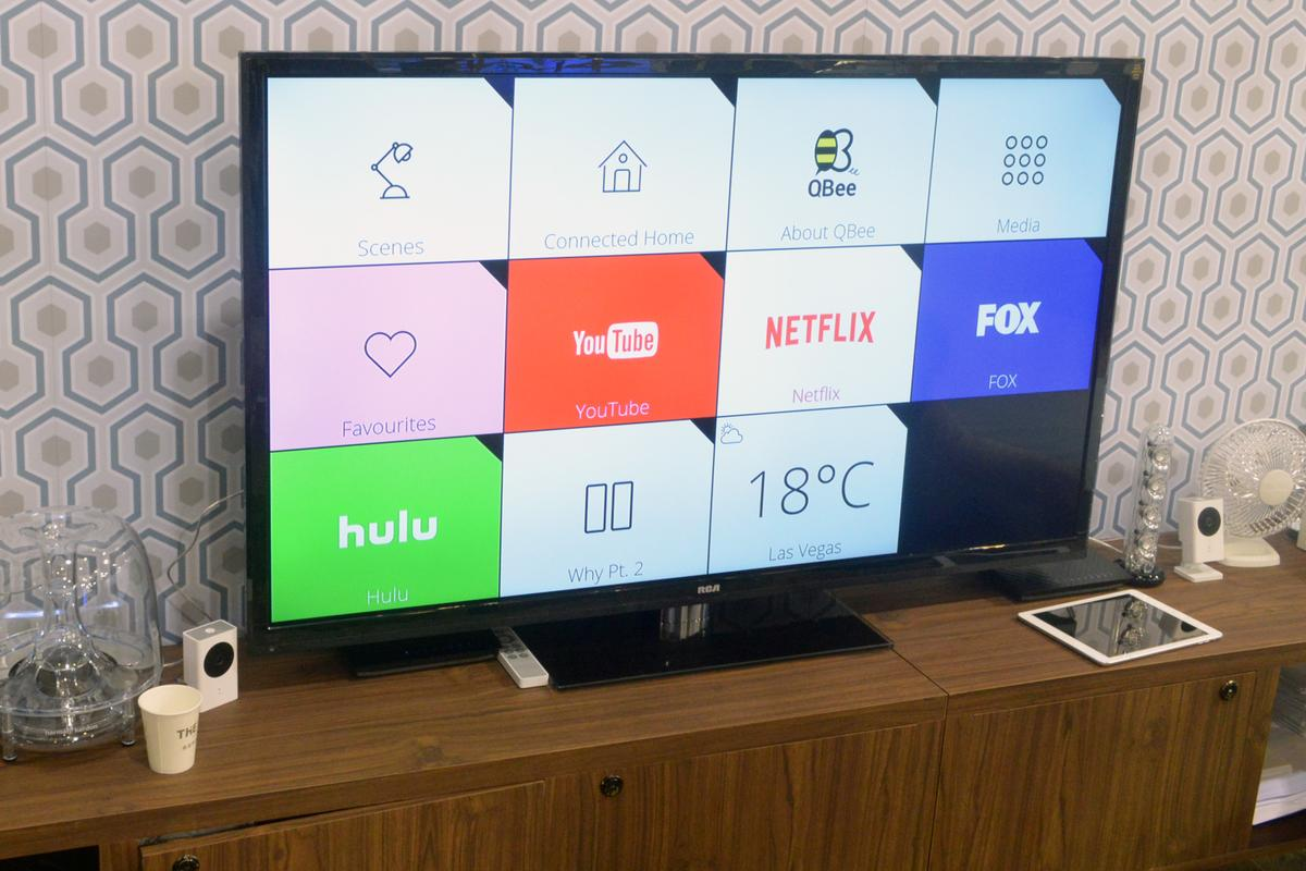 Askey's QBee Connected Home solution – seen here at CES 2015 – consists of three versatile components tied together by the company's iOS and Android app (Photo: C.C.Weiss/Gizmag)