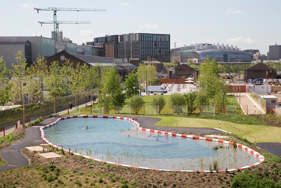Freshwater swimming pond opens in London\'s King\'s Cross