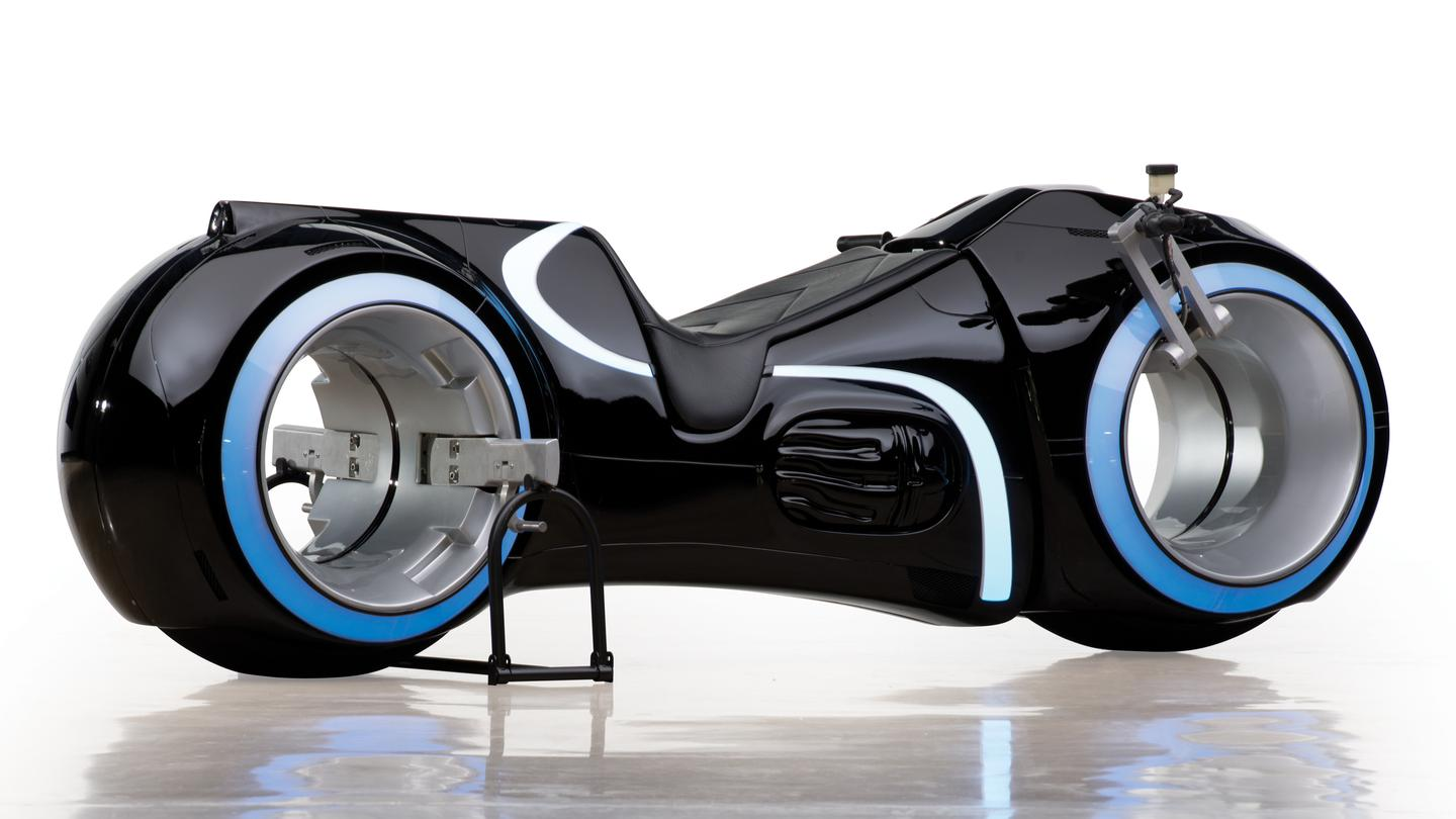 A replica of the TRON: Legacy light cycle is going up for auction