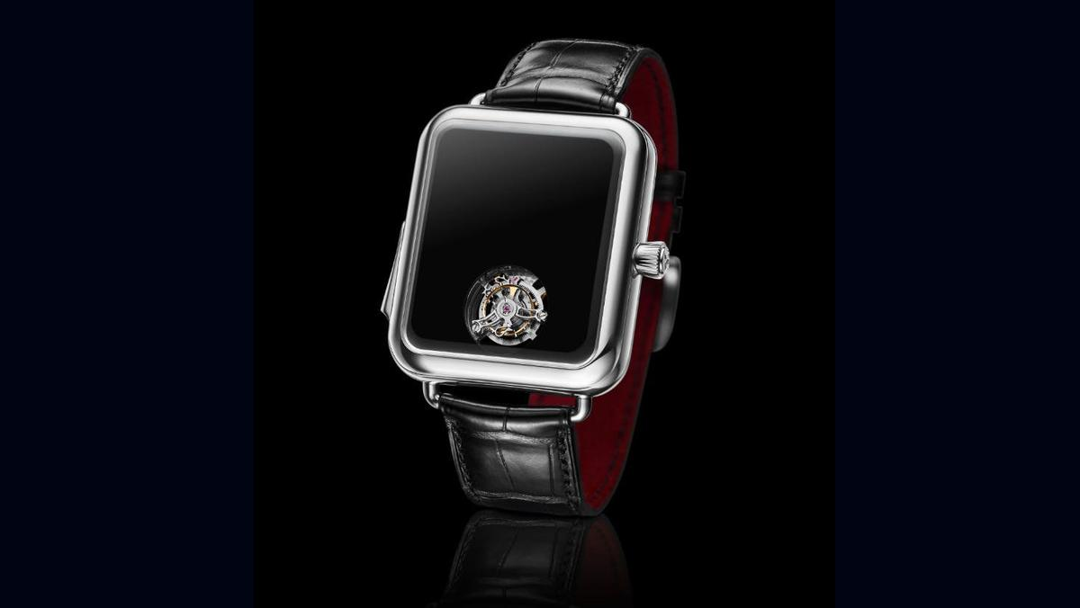 The Swiss Alp Watch Concept Black has no hands or facemarkings