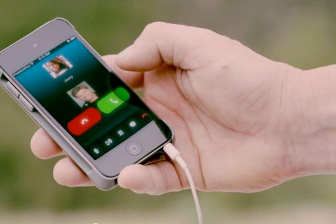 Making a call using FreedomPop's iPod touch case