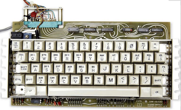 The Apple 1 model sold is said to be part of a first batch of 50 and is in working order, complete with a vintage keyboard and Sanyo Monitor