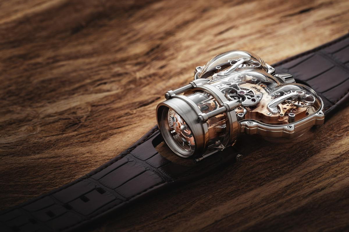 The MB&F HM9 Sapphire Vision uses a sapphire case to show off its movement