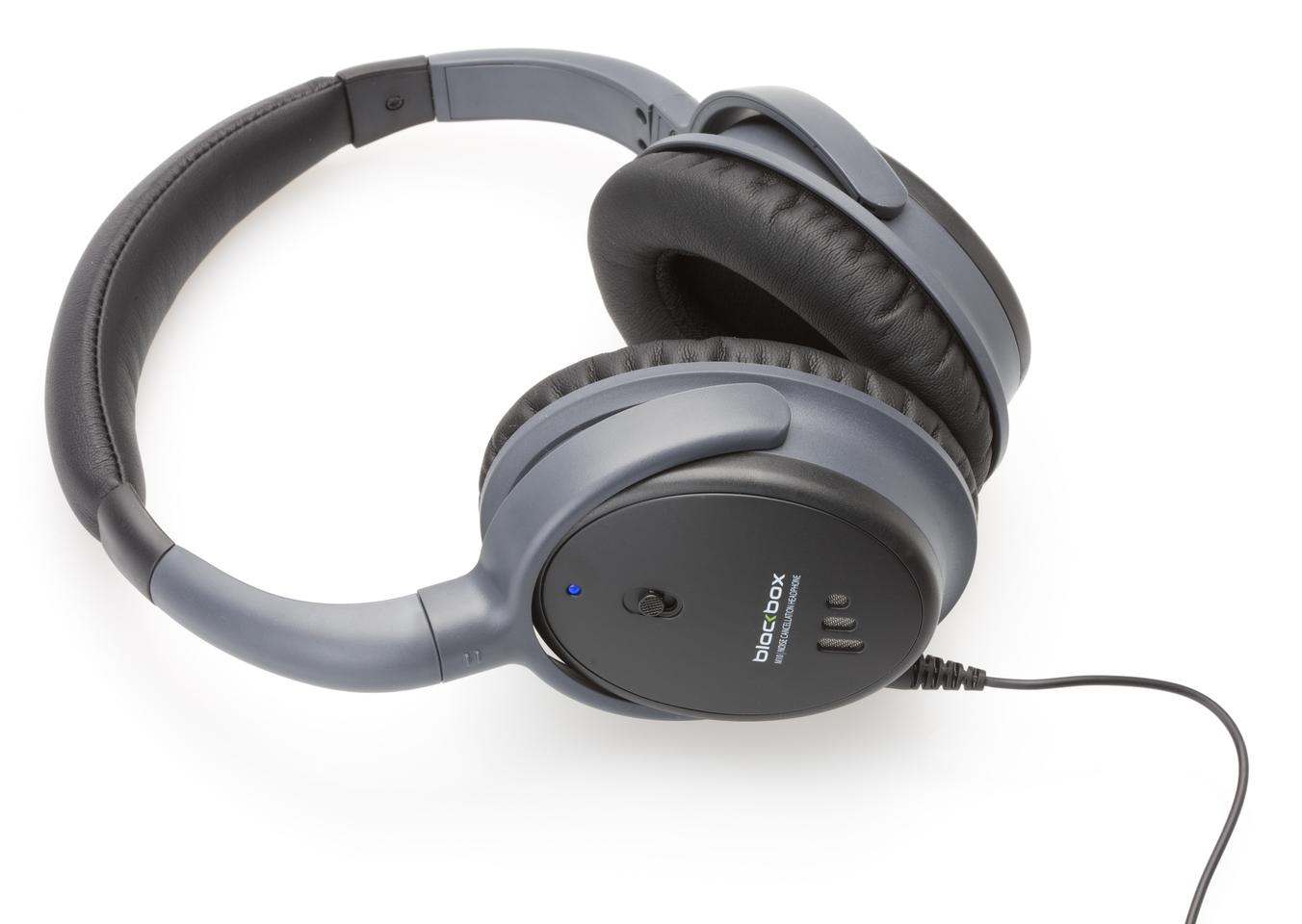 The BlackBox M10 circum-aural headphones with Active Noise Rejection technology