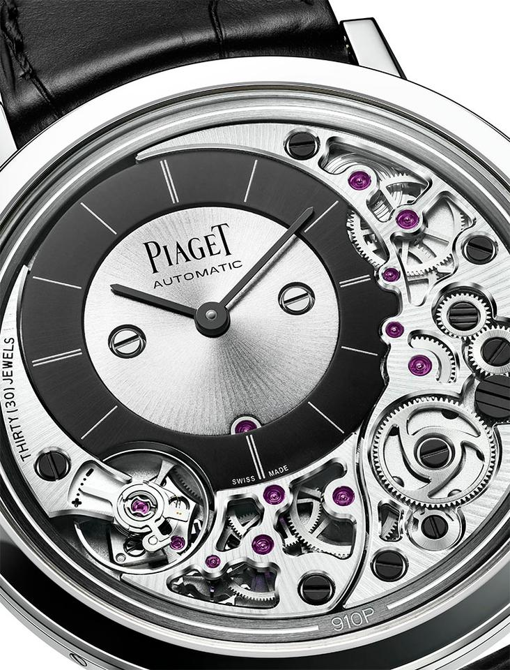 The display on the Piaget Altiplano Ultimate 910 had to be offset ot make room for the movement