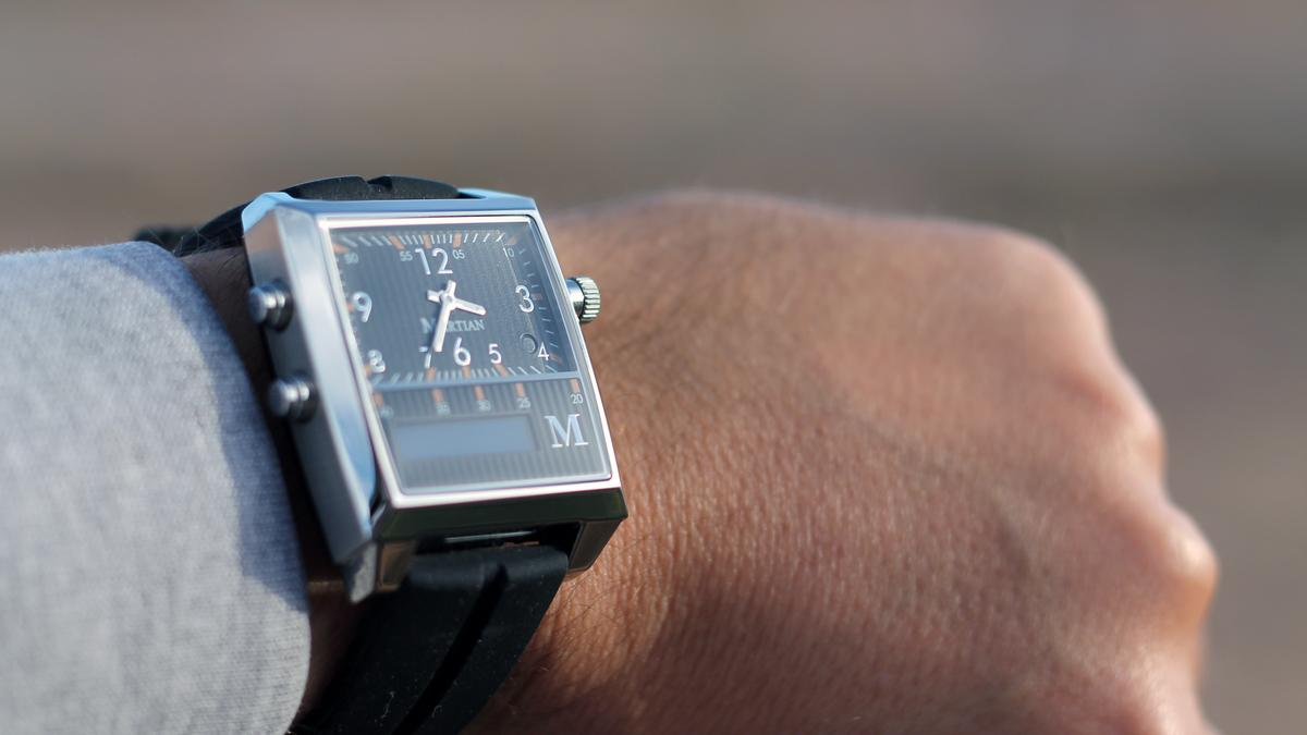 The Martian Watch has a retro look, and doesn't obviously look like a smartwatch