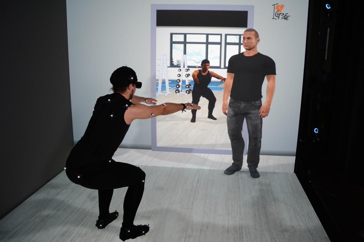 The ICSPACE virtual coaching system is designed to give users real-time feedback on their own movement and exercise