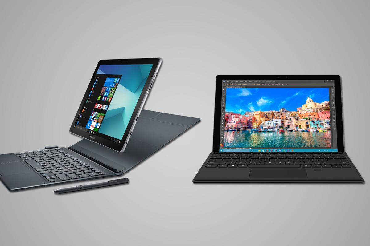 Comparing the specs and features of the new Samsung Galaxy Book with the Microsoft Surface Pro 4