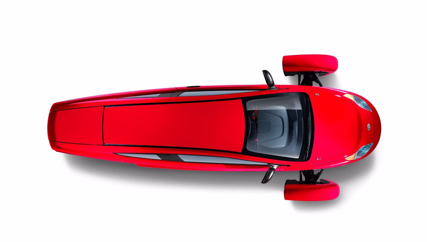 The Elio P5 from above