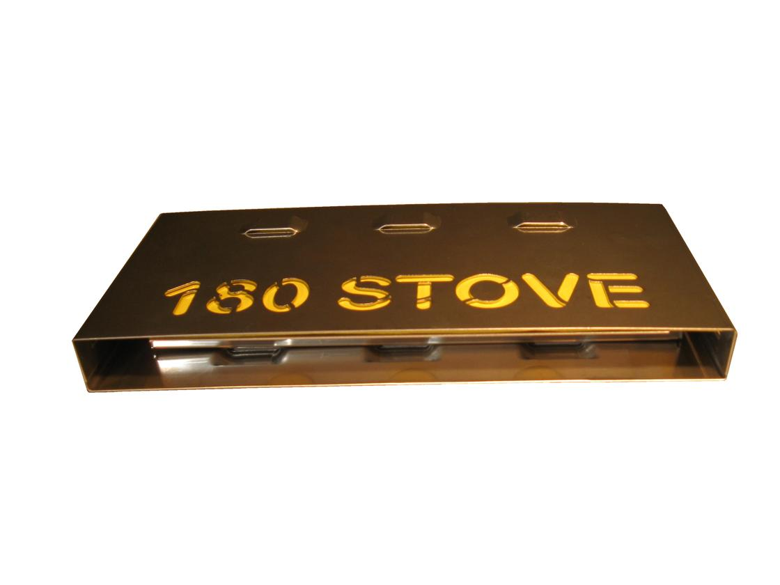 When broken down, the 180 stove is just over half-an-inch thick and 7 inches long